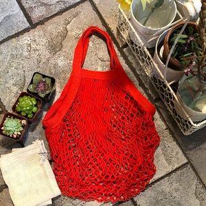 Handbags - 🆕🆕 ♻️FRENCH MARKET COTTON NET-SHORT HANDLE BAG♻️